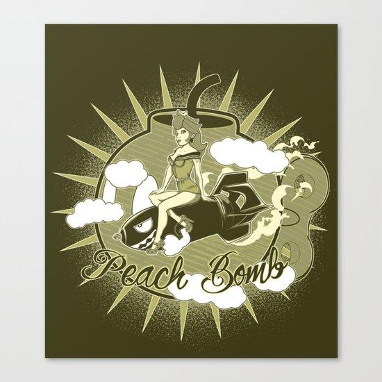 Peach Bomb Canvas Print