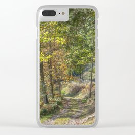 French forest road Clear iPhone Case