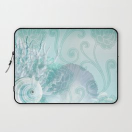 SEASHELL DREAMS | blue Laptop Sleeve