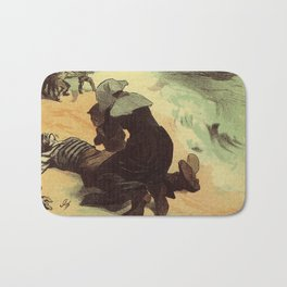 Vintage French drowned sailors charity advertising Bath Mat