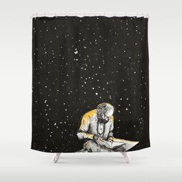 Allen Ginsberg in the sky Shower Curtain