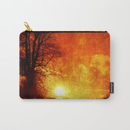 Lone trees on an English winters day  Carry-All Pouch