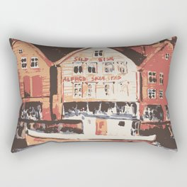 Old warf of Bergen Norway Rectangular Pillow