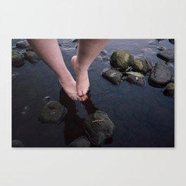 Feet in River Canvas Print