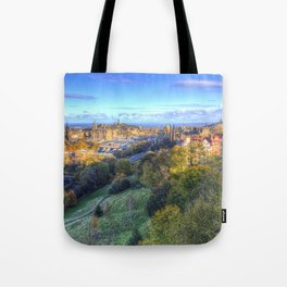 Edinburgh City Panorama Tote Bag