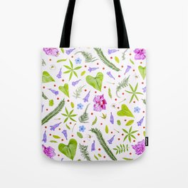 Leaves and flowers (8) Tote Bag