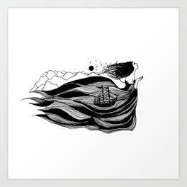 Inktober Flowing Art Print
