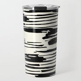 Rough Brush on Ivory Travel Mug