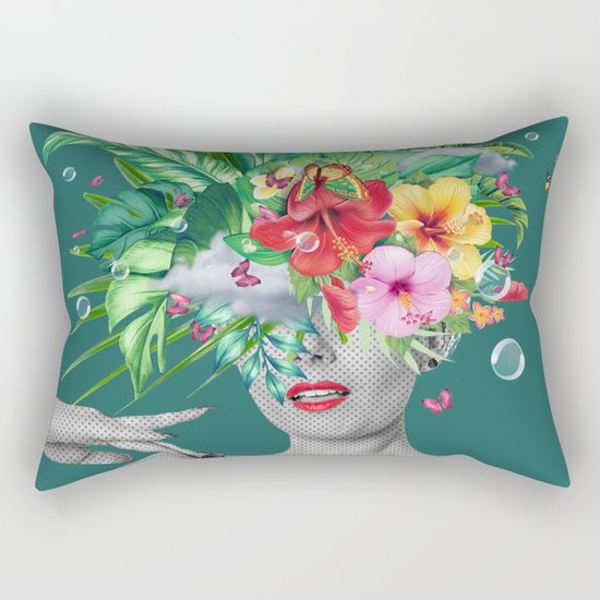 portriat floral Rectangular Pillow