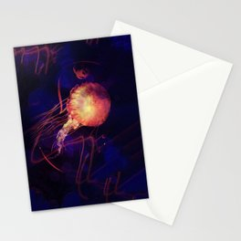 Jellyfish of the Blacklight Electro Rave Stationery Cards