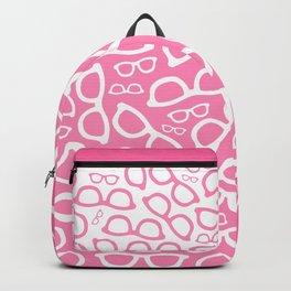 Smart Glasses Pattern - Pink Backpack