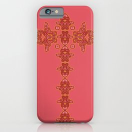 'Red Faith' - Cross of lace in red iPhone Case