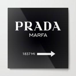 Black Marfa Metal Print