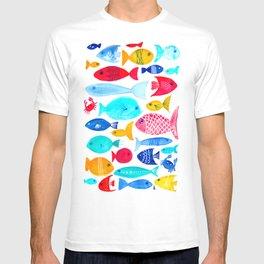 Fish Pattern - Ocean - Nautical - Sea - Swim - Crabs - Summer T-shirt