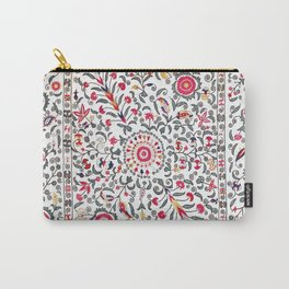 Ura Tube Suzani Uzbekistan Colorful Embroidery Print Carry-All Pouch