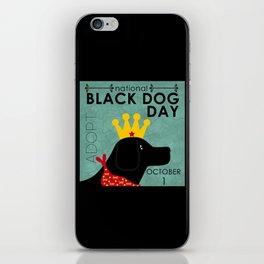 Black Dog Day Royal Crown iPhone Skin