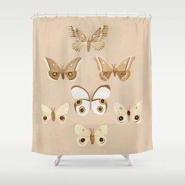 pale moths Shower Curtain