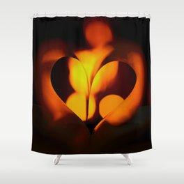 Beautiful Evening in Autumn - Heart Shape with Bokeh Light #decor #society6 #buyart Shower Curtain