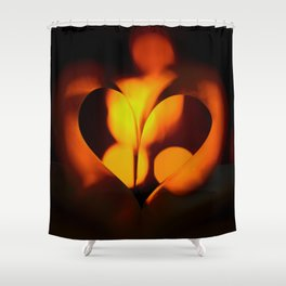 Beautiful Evening in Autumn - Heart Shape with Bokeh Light #decor #society6 #buyart Shower Curtain
