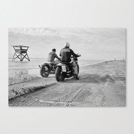 The Race of Gentlemen bw 7 Canvas Print