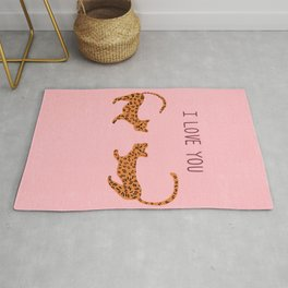 I love you cute tiger cubs  Rug