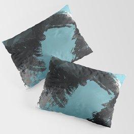 Black and Blue Paint Splash Pillow Sham