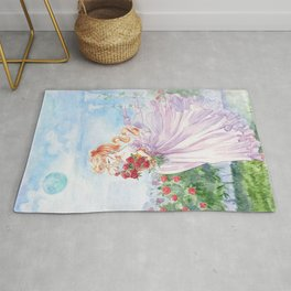 Princess Serenity with Roses Rug