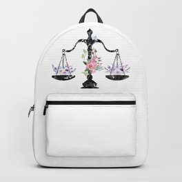 Scales of Justice Art Backpack