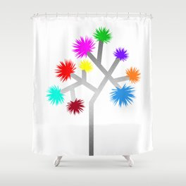 Joshua Tree Pom Poms by CREYES Shower Curtain