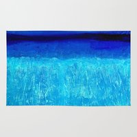 aqua Area & Throw Rugs featuring Aqua by BruceStanfieldArtistPainter