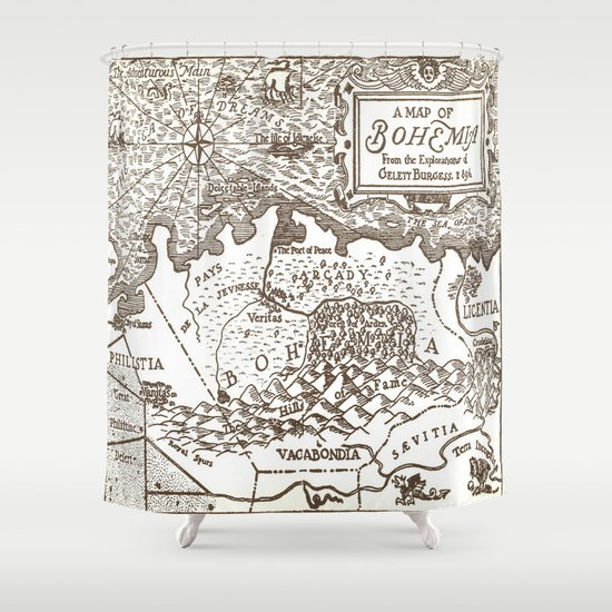 Map of Bohemia Shower Curtain