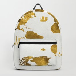 Golden World map Backpack