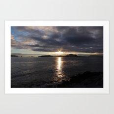 SUNSET AT SITKA Art Print