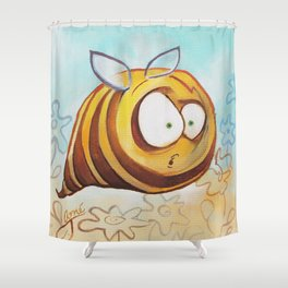 Fat Bee Shower Curtain