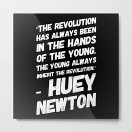 The Revolution of The Young - Huey Newton Metal Print