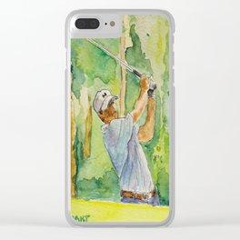 Jordan Spieth Pro Golfer Clear iPhone Case