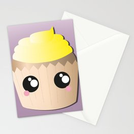Yellow Cupcake Stationery Cards