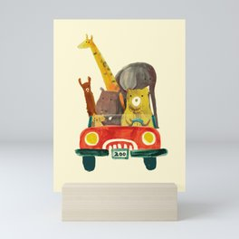 Visit the zoo Mini Art Print