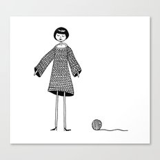 Knitting, gone awry. Canvas Print