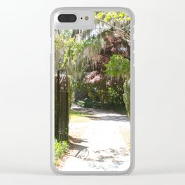 Southern Spring Garden Entry Clear iPhone Case