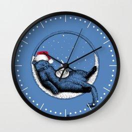 Christmas Cat 2018 Wall Clock