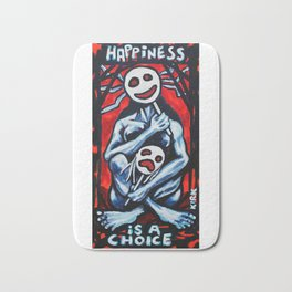'Happiness Is A Choice' Bath Mat