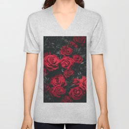 Red Roses (Color) Unisex V-Neck