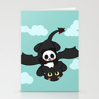 how to train your dragon Stationery Cards featuring How Panda Train Your Dragon by Pandakuma Store