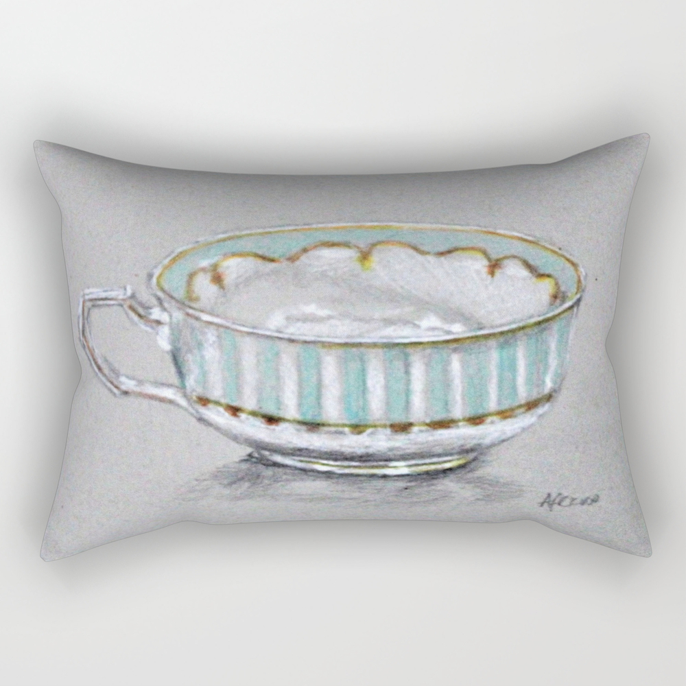 A Cup Of Tea Rectangular Pillow RPW8785165