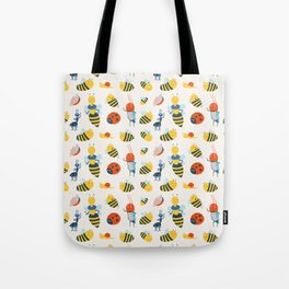 Happy Bees and Bugs Tote Bag