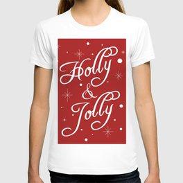 Holly and Jolly Holiday Design T-shirt