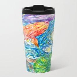 Van Gogh Koi Travel Mug