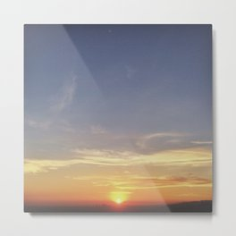 Goodbye Sun Metal Print