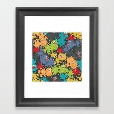 Funny microbes. Framed Art Print
